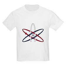 Atheist Symbol RWB T-Shirt
