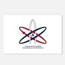 Atheist Symbol RWB Postcards (Package of 8)