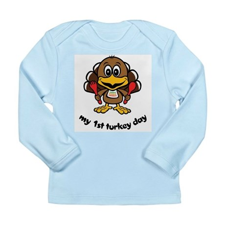 My First Turkey Day Long Sleeve Infant T-Shirt