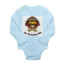 My First Turkey Day Long Sleeve Infant Bodysuit