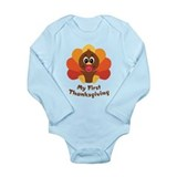 Baby 27s first thanksgiving Long Sleeves Bodysuits