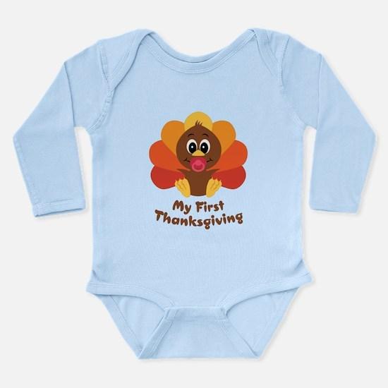My 1st Thanksgiving Long Sleeve Infant Bodysuit