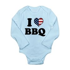 4th of July BBQ Long Sleeve Infant Bodysuit