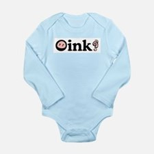 Oink! Long Sleeve Infant Bodysuit