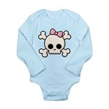 Girl skull and crossbones Long Sleeves Bodysuits