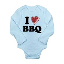I [heart] BBQ Long Sleeve Infant Bodysuit