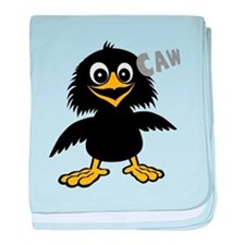 Funny Crow baby blanket