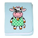 Dressed Up Cow baby blanket