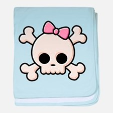 Cute Skull Girl baby blanket