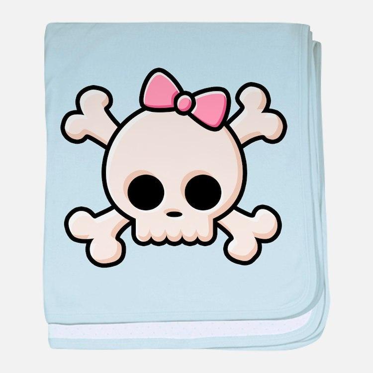 Cute Skull Girl baby blanket