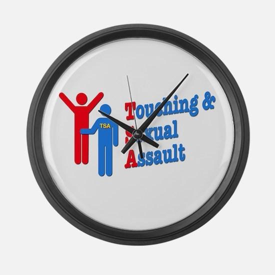 TSA = Touching & Sexual Assault Large Wall Clock