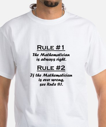 Mathematician White T-Shirt