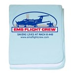 Fixed Wing EMS - King Air 200 baby blanket