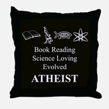 Book Science Evolved Atheist Throw Pillow