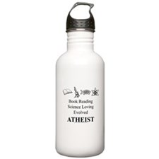 Book Science Evolved Atheist Water Bottle