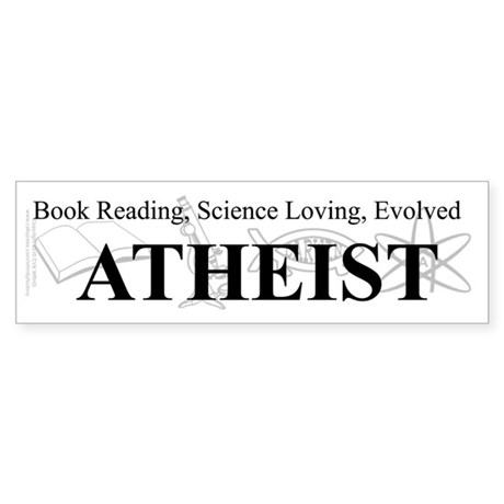 Book Science Evolved Atheist Sticker (Bumper)
