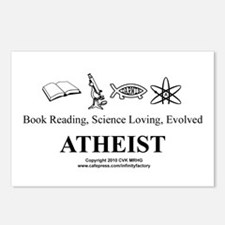 Book Science Evolved Atheist Postcards (Package of