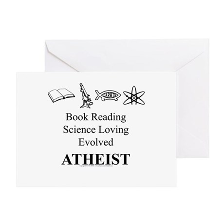 Book Science Evolved Atheist Greeting Card