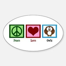 Peace Love Owls Decal