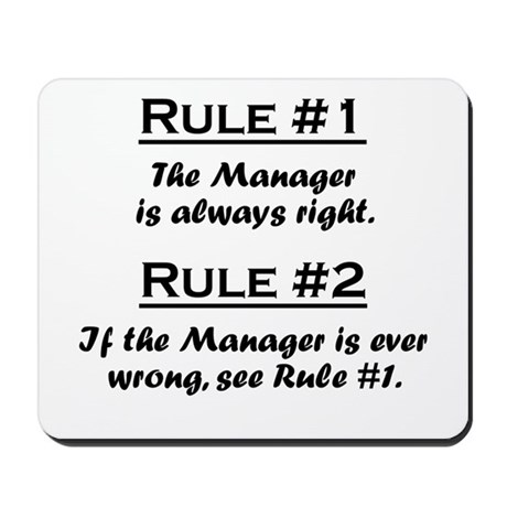 Rule Manager Mousepad
