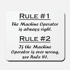 Machine Operator Mousepad