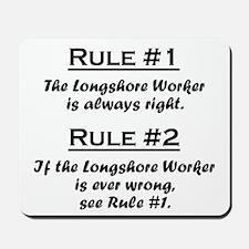 Longshore Worker Mousepad