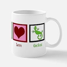 Peace Love Geckos Mug