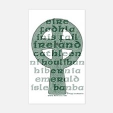 The Names of Ireland Rectangle Decal