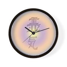 Reiki Pastel Glo Wall Clock