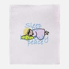 Sleep in Peace Throw Blanket