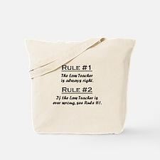 Law Teacher Tote Bag