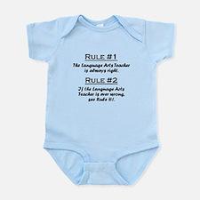 Language Arts Teacher Infant Bodysuit