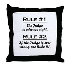 Judge Throw Pillow