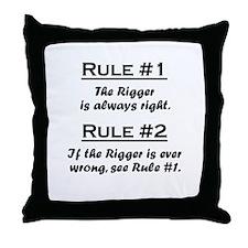 Rigger Throw Pillow