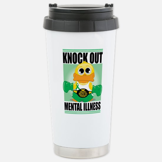 Knock Out Mental Illness Stainless Steel Travel Mu