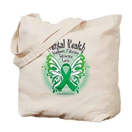 Mental Health Butterfly 3 Tote Bag