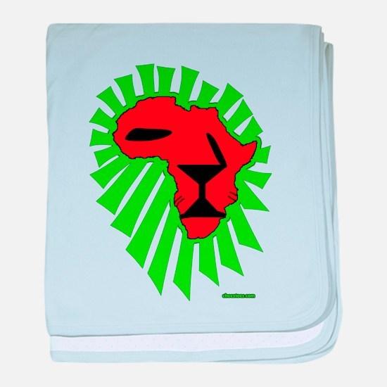 Lion El baby blanket
