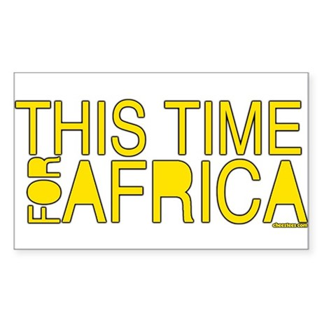 For Africa Sticker (Rectangle)