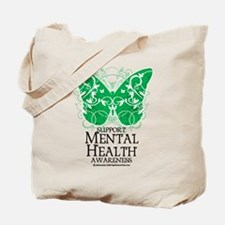 Mental Health Butterfly Tote Bag