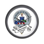 Morrison Clan Badge Wall Clock