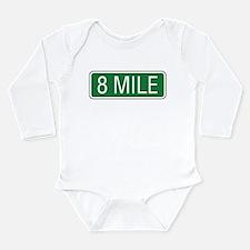 8 Mile Road Long Sleeve Infant Bodysuit