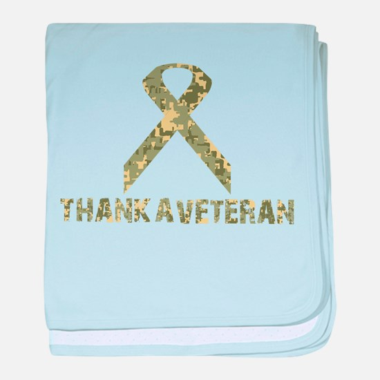 Thank A Veteran baby blanket