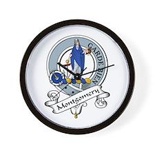 Montgomery Clan Badge Wall Clock