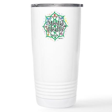 Mental Health Lotus Stainless Steel Travel Mug