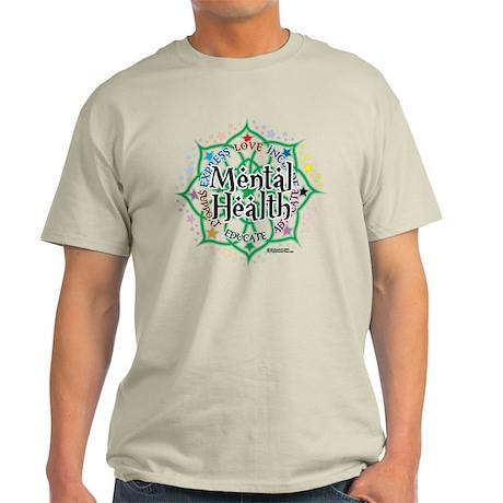 Mental Health Lotus Light T-Shirt