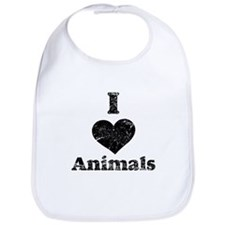 Vintage I Heart Animals Bib