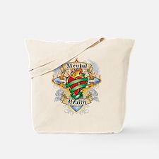 Mental Health Cross & Heart Tote Bag