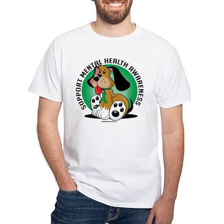 Mental Health Dog White T Shirt Mental Health Dog Shirt