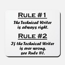 Technical Writer Mousepad
