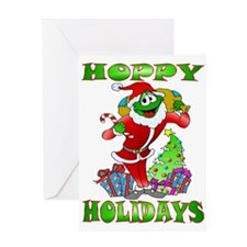 Froggy Claus Greeting Card